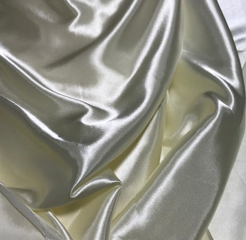 Ivory - Faux Silk Charmeuse Satin Fabric