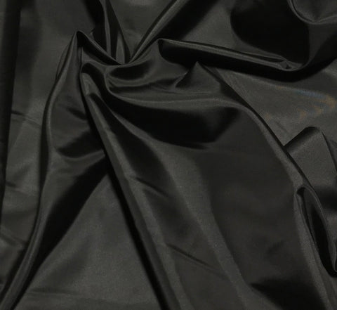 Black - Polyester Lining Fabric