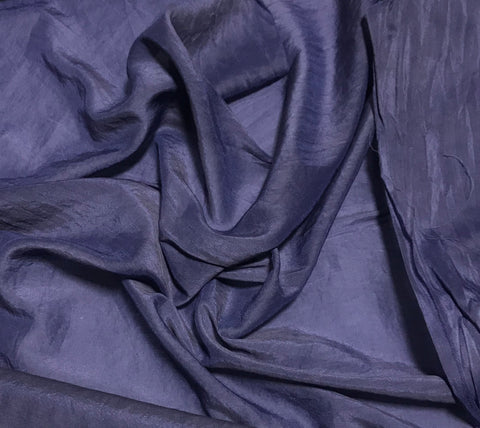 Midnight Blue - Hand Dyed Silk/Cotton Voile