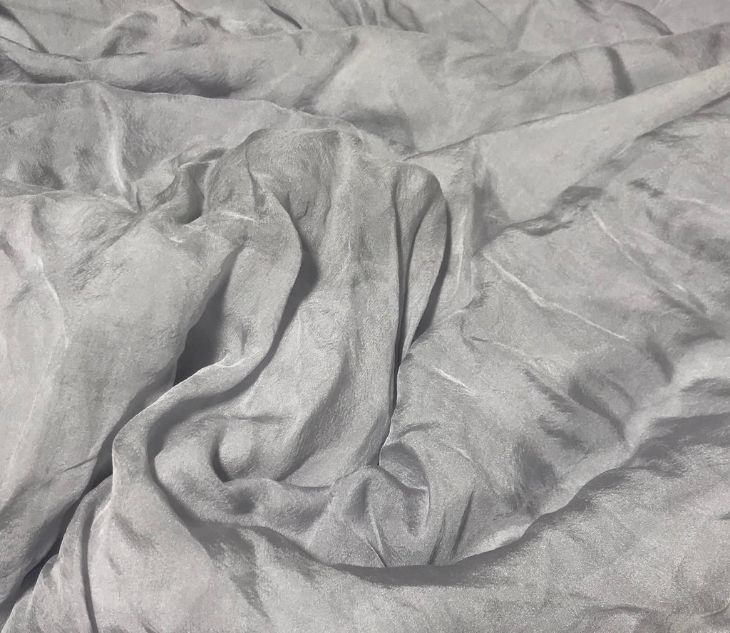 Pearl Gray - Hand Dyed Soft Silk Organza