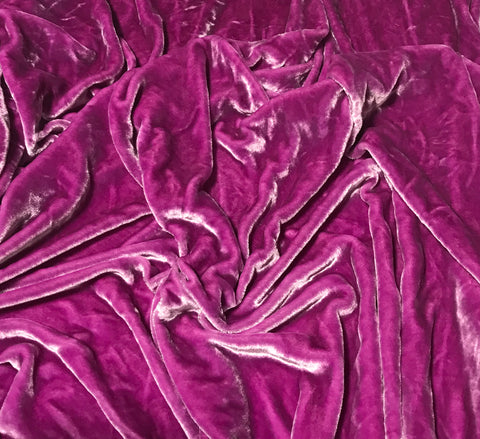 Lilac - Hand Dyed Very Plush Silk Velvet
