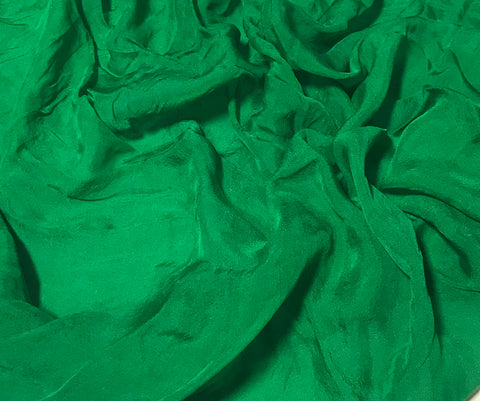 Emerald Green - Hand Dyed Soft Silk Organza