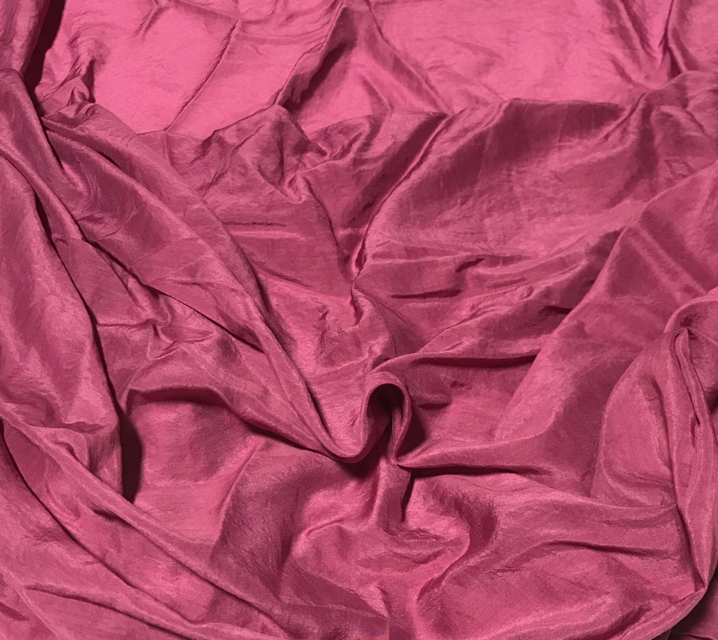 Maroon - Hand Dyed Silk/Cotton Voile