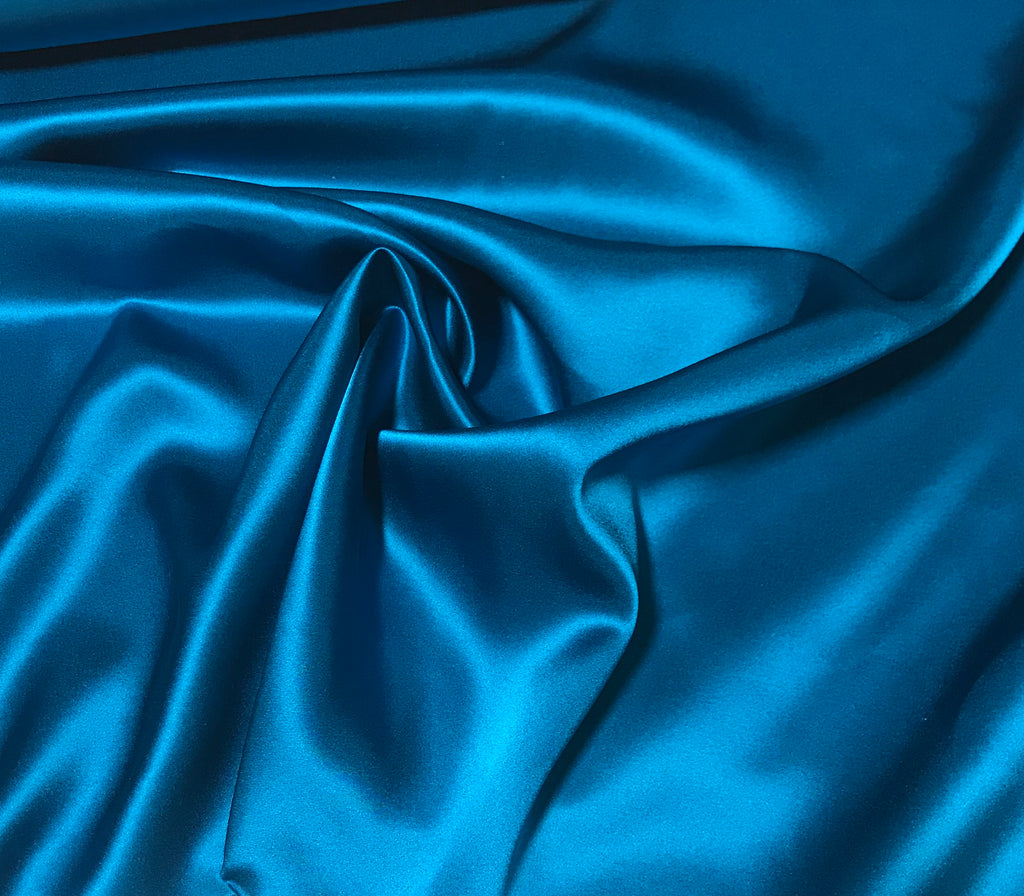 Teal Blue - 19mm Silk Charmeuse