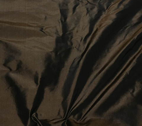 Chocolate Brown - Silk Taffeta Fabric
