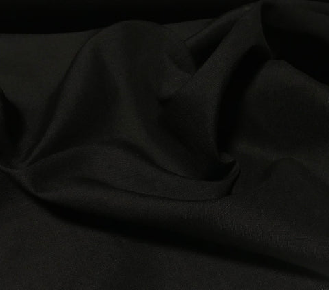 Black - Silk/Linen Suiting Fabric