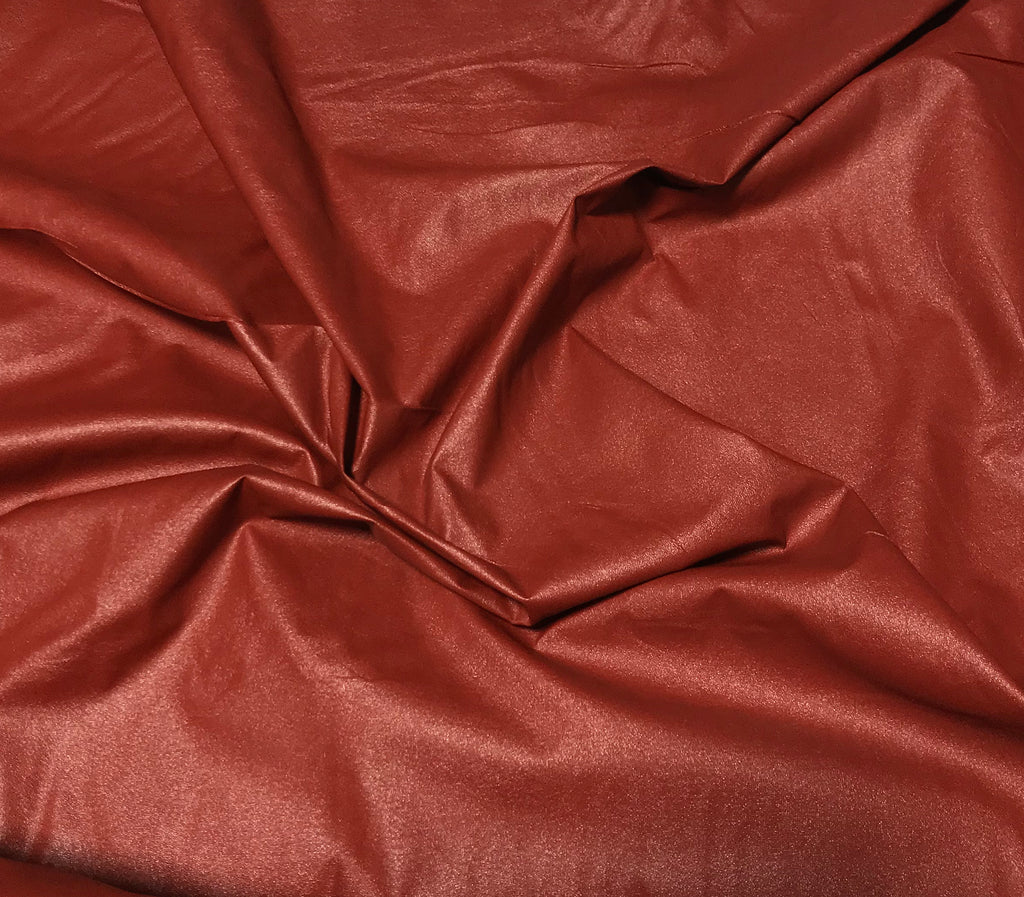 Rust - Faux Leather Fabric
