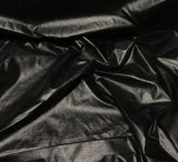 Black - Faux Leather Fabric