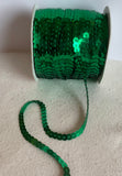 "Peacock Teal Sequin Ribbon - 1/4"" wide - 5 Yards (10 Colors to choose from)"
