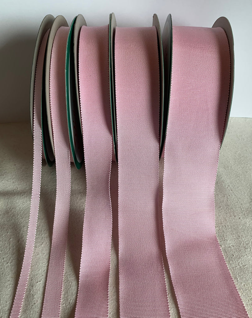 Baby Pink 100% Rayon Petersham Ribbon (5 Widths to choose from)