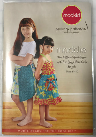 Maddie Skirt and Knit Yoga Waistbands sz 2T-10yrs Modkid Sewing Pattern