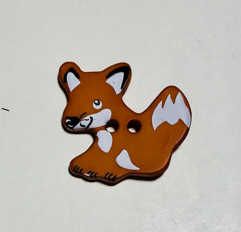 "Brown Fox Plastic Button - 25mm / 1"" - Dill Buttons Brand"