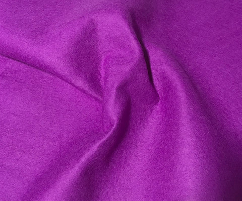 African Violet Purple - 100% Virgin Wool Felt Fabric