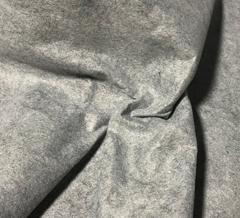 Smoky Marble Gray - Wool /Rayon Blend Felt Fabric