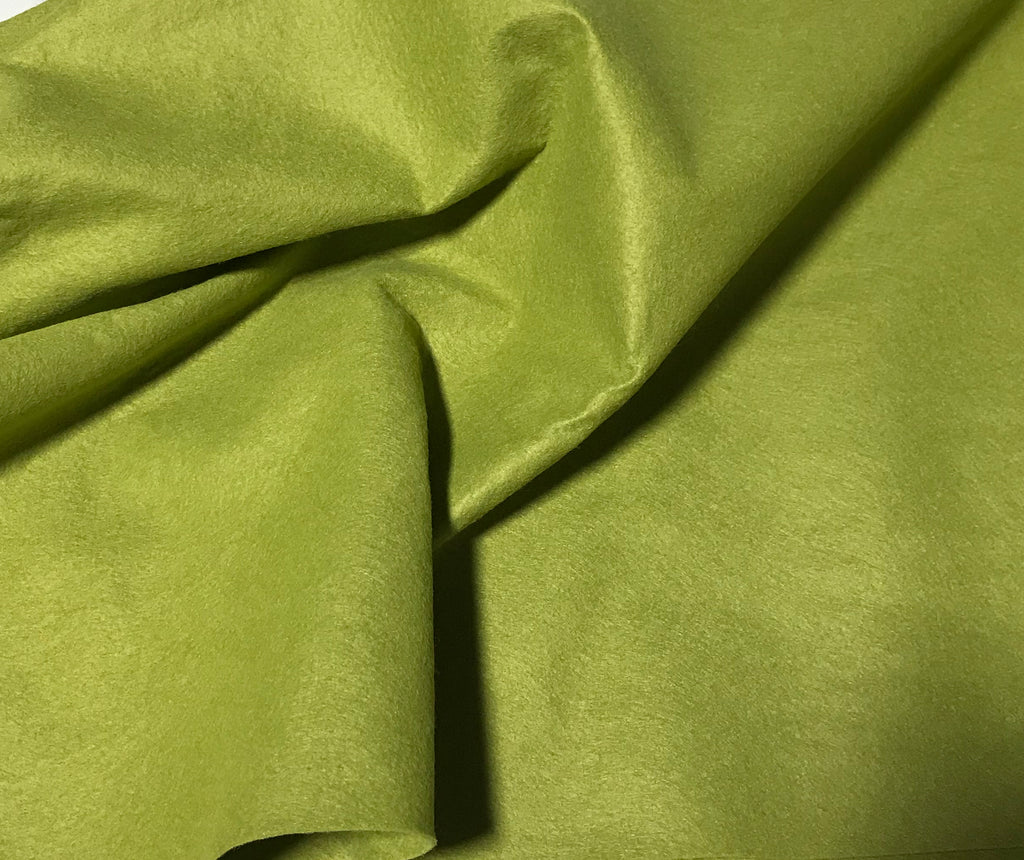 Pea Soup Green - Wool /Rayon Blend Felt Fabric