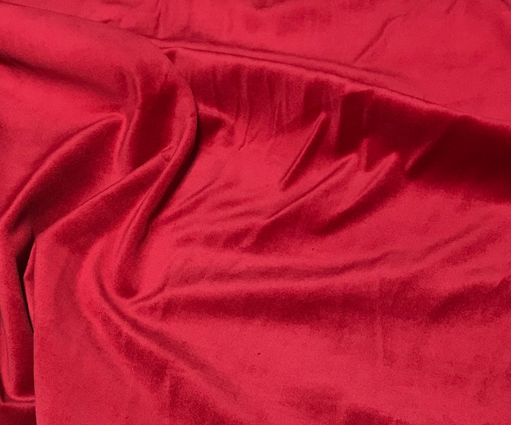 Scarlet Red Spechler Vogel Cotton Velveteen Fabric