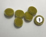Chartreuse Silk Velvet Fabric Buttons - Set of 6 - 5/8""