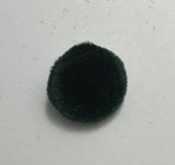 Dark Forest Green Silk Velvet Fabric Buttons - Set of 6 - 5/8""