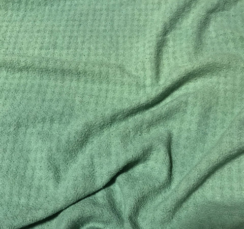 Celadon Green - Hand Dyed Checkered Weave Silk Noil