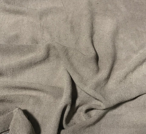 Taupe - Hand Dyed Poplin Gauze Silk Noil