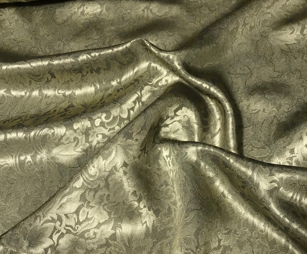 Beige Baroque Scroll - Silk Jacquard