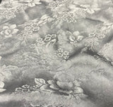 Pearl Gray Floral - Hand Dyed Silk Jacquard