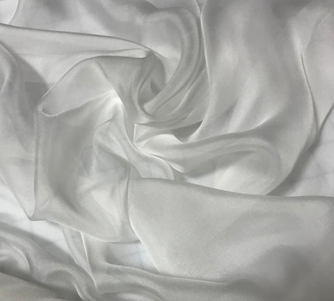 White - Soft Silk Organza Fabric