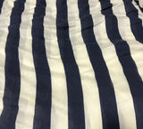 Maggy London Cream & Navy Stripe - Rayon Woven Fabric