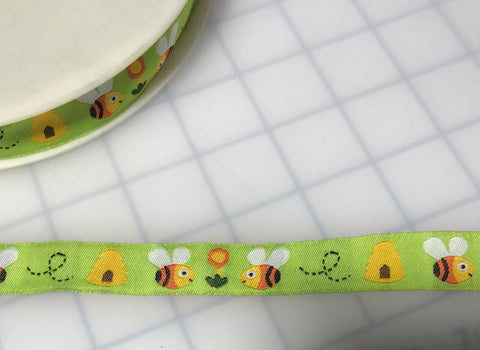 "Bumble Bee Jacquard Ribbon Trim 5/8"" Made in France"