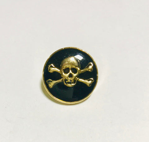 "Skull & Crossbones Metal Button - 20mm / 3/4"" - Dill Buttons Brand (5 Colors to Choose From)"