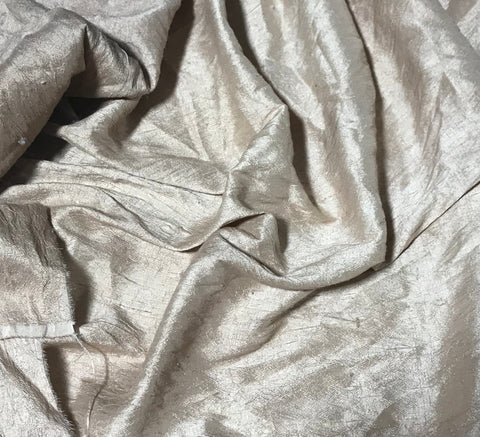 Terra Cotta Brown - Hand Dyed Silk Dupioni Fabric
