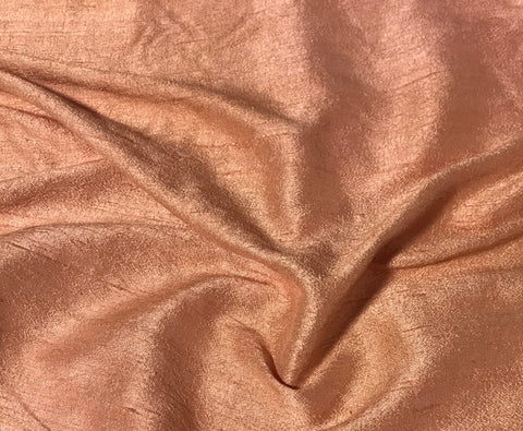 Peach - Hand Dyed Silk Dupioni Fabric