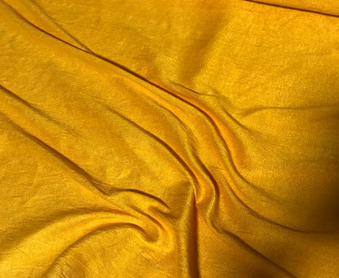 Golden Poppy - Hand Dyed Silk Dupioni Fabric