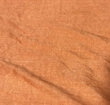 Hand Dyed Persimmon Orange - Silk Dupioni Fabric