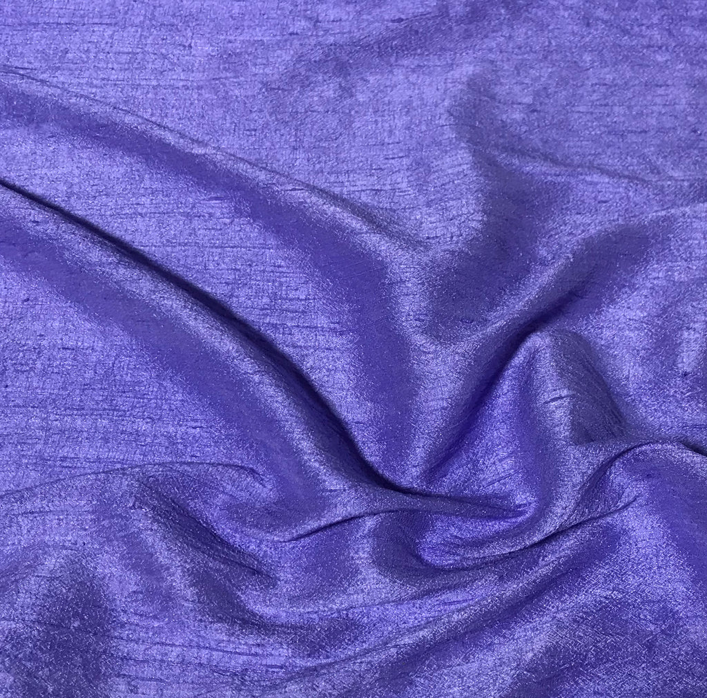 Iris Purple - Hand Dyed Silk Dupioni