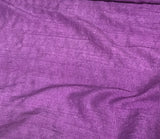 Amethyst Purple - Hand Dyed Silk Dupioni Fabric