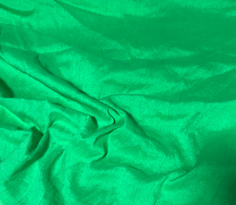 Spearmint Green - Hand Dyed Silk Dupioni Fabric