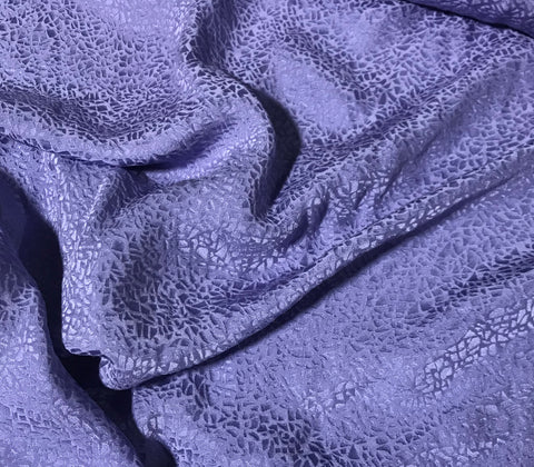 Lavender Purple Pebbles - Hand Dyed Silk Jacquard