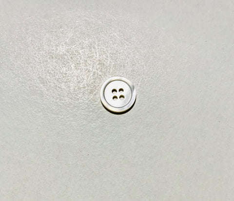 4 Hole White Natural Pearl Button - Dill Buttons Brand (4 Sizes to Choose From)