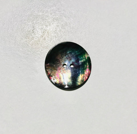 Black Mother of Pearl 2 Hole Button - Dill Buttons Brand (2 Sizes to Choose From)