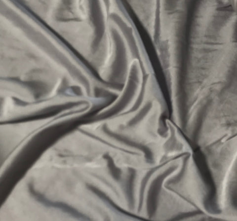 Pearl Gray - Hand Dyed Silk/Cotton Satin