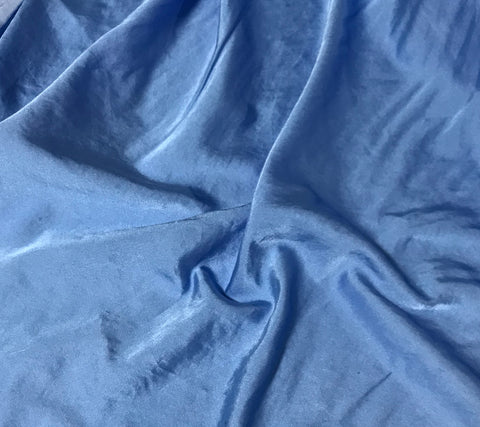 Periwinkle Blue  - Hand Dyed Silk/Cotton Satin