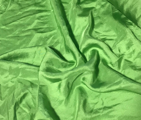 Apple Green - Hand Dyed Silk Twill