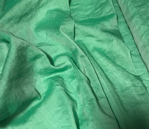Emerald Green - Hand Dyed Silk/Cotton Voile