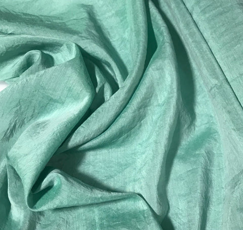Moss Green - Hand Dyed Silk/Cotton Voile