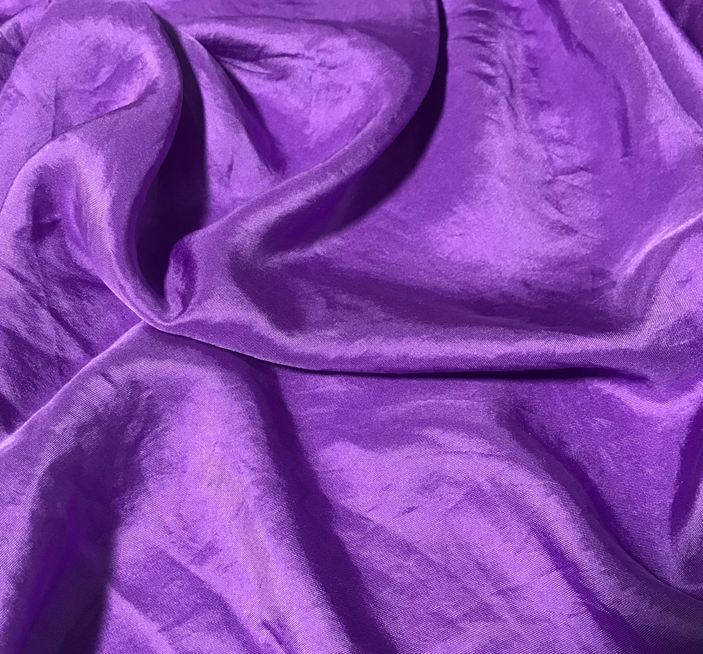 Bright Lavender - Hand Dyed Silk Twill