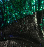 Purple Green Oil Slick - Reversible Sequin Fabric
