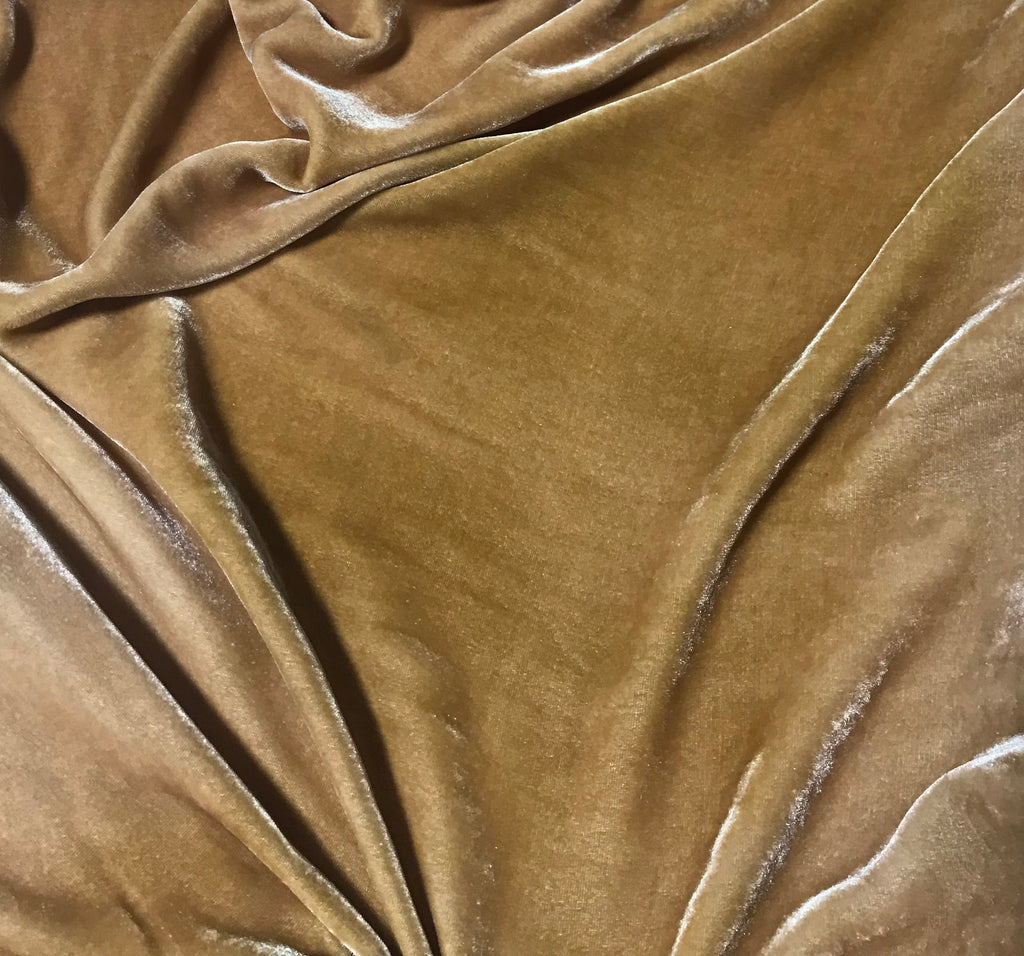Golden Brown - Hand Dyed Silk Velvet