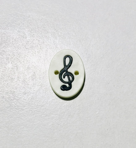 "Music Note Plastic Button - 25mm / 3/4"" - Dill Buttons Brand"
