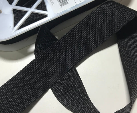 "2"" Wide Poly Webbing Trim Black"